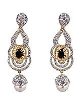 Agarwal Bentex Gold Plated American Diamond Designer Earring For Women