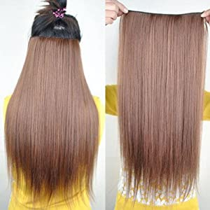 8 Color Straight Full Head Clip In-hair Extensions