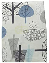 Lolli Living Woods Dust Ruffle - In The Woods - 100% Cotton Bed Skirt For Baby'S Crib, Part Of Simple And Colorful Nursery Coordinates