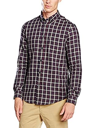 Ben Sherman Camicia Uomo Ls Reversible Check/ Plain Inn