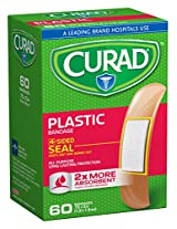 Curad Plastic, 3/4 Inches X 3 Inches 60 count (Pack of 4)