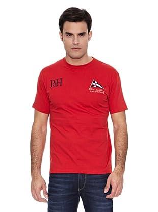 Pedro del Hierro Camiseta Big Logo Bandera (Rojo)