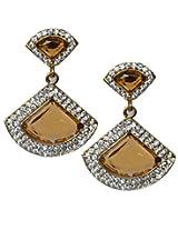 11-Girls Beautiful Style Diva Golden Designer Earring