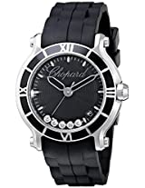 Chopard Women's 278551-3002 RBK Happy Sport Round Analog Display Swiss Quartz Black Watch