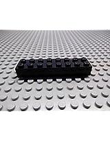 50x Lego Black 2X8 Brick