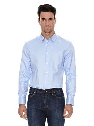 Versace Camisa Lisa Vestir (Azul)
