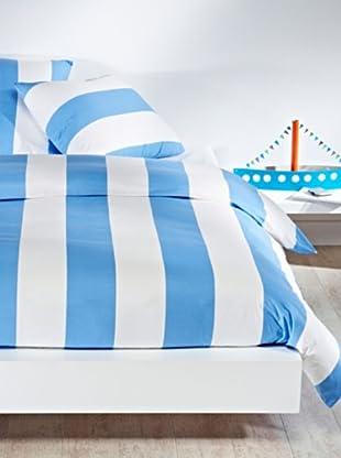 Mistral Home Bettwäsche-Set Mykonos in 3 Größen (blau)