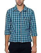 People Men's Regular Fit Shirt_ P10102166149429_44_ Blue