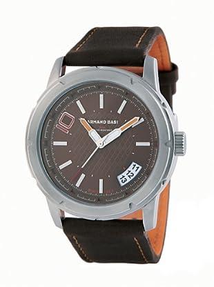 ARMAND BASI A1002G03 - Reloj de Caballero movimiento de cuarzo con correa de piel Marrón