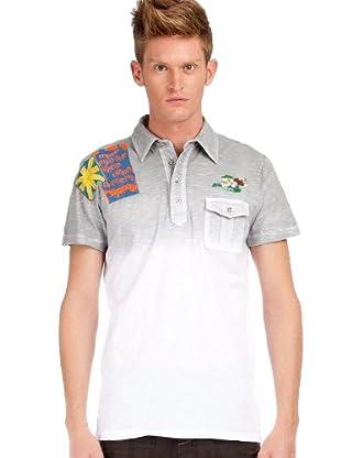Custo Poloshirt (Grau/Weiß)