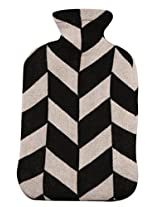 Pluchi Garroway Black & Natural Knitted Hot Water Bottle Cover-Large