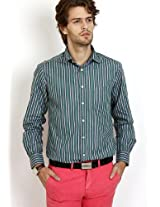 Striped Green Formal Shirt