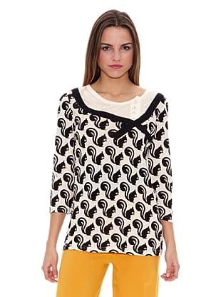 Pepa Loves Camiseta Alonsa (Negro / Crudo)