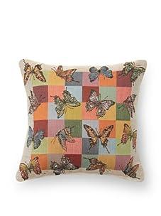 "Corona Decor Co. Butterflies Jacquard Weave 9"" Pillow, Multi"