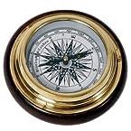 Home decor - Wood n Brass Real Nautical Compass Handicraft