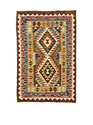 Eden Teppich Kilim-P braun/mehrfarbig 100 x 150 cm