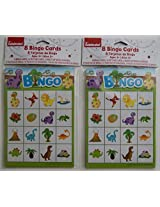 Way to Celebrate Childrens Party Dinosaur Bingo Pads - Set of 2