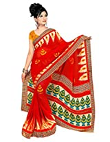 Makeway Printed Faux Georget Saree