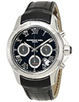 "Raymond Weil Men's 7260-STC-00208 ""Parsifal"" Stainless Steel Watch with Black Leather Band"