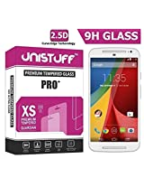 Unistuff ( TM ) 2.5D Curve Edge 9H Surface Hardness Tempered Glass for Moto G (2nd gen) 4G