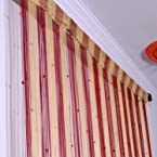 Set of 2 HandloomHUb Beautiful String Door Curtains - Maroon
