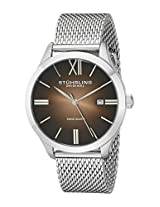 Stuhrling Original Analog Brown Dial Men's Watch - 490M.03