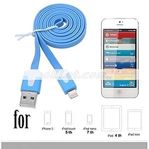 Generic Flat Ribbon USB Data Cable, USB to 8-pin Cable for iPhone 5, iPad 4 Mini, iPod Nano