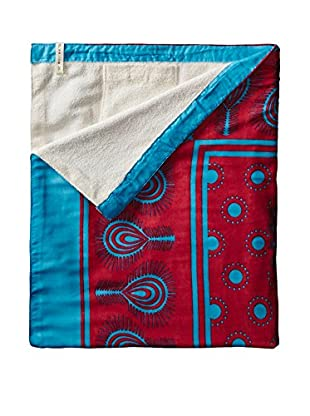 Nomadic Thread Society Swahili Towel, Pink/Blue