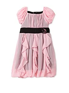 Hype Girls Solid Yoryu Dress (Baby Pink)
