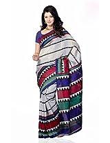 Shariyar Multi Color Art Silk Printed Saree PRG354