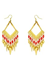Madclozet Golden Chime Earrings For Women