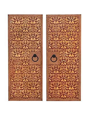 Set of 2 Wood Wall Panels