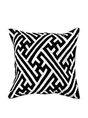 Bandhini Homewear Design I Design Throw Pillow, Black/White