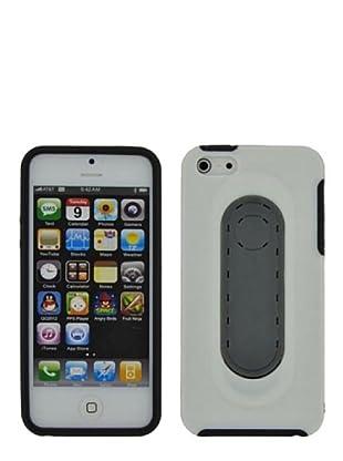 Blautel iPhone 5 Carcasa Protectora Trasera Stand Blanco/Negro