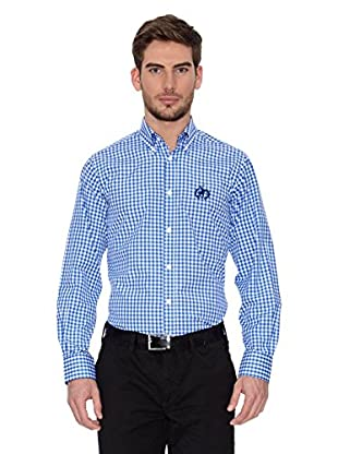 Polo Club Camisa Hombre Checks (Azul Royal)