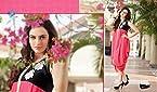 Elegant Stylish Georgette Pink n Black Colour Kurti