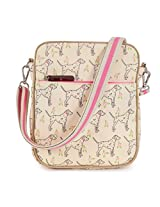 Pink Lining Out and About Mini Messenger Sam the Dalmatian Bag, Cream