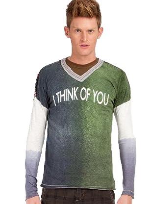 Custo Camiseta (Verde / Gris)