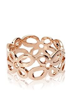 Catherine Angiel Rose Gold Open Flower Band