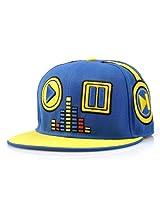 LOCOMO Men Women Hip Hop Embroidered Music Player Baseball Cap Blue FFH055BLU