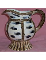 Mountain Lodge Ceramic Hand Painted Pitcher