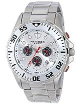 Akribos XXIV Men's AK661SS Conqueror Quartz Chronograph Silver-tone Dial Stainless Steel Bracelet Watch