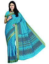 Sthri blue casual wear or office wear cotton saree (STHASKDS101 , Blue)