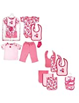 Hudson Baby Mesh Bag Collection 6pc 0 3 Months Rose