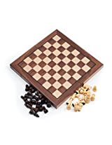 Chess Board Walnut Book Style W/ Staunton Chessmen Chess Board Walnut Book Style