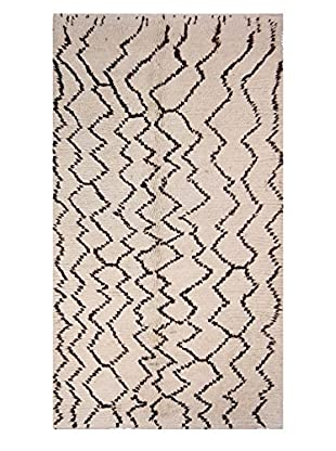 nuLOOM One-of-a-Kind Hand-Knotted Wolfe Berber Shag Rug, Natural, 4' 4