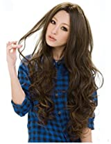 Sexy Women's Long Wavy Wig (Model: Jf010577) Light Brown AD