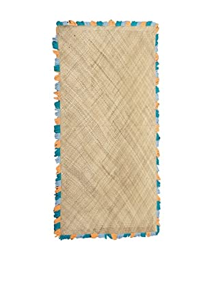 Bazaar Mat, Blue/Orange