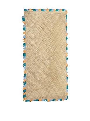Bazaar Mat, Blue/Orange