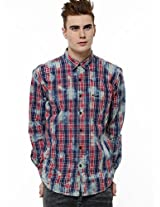 PEPE JEANS Heavy Wash Chequered Shirt